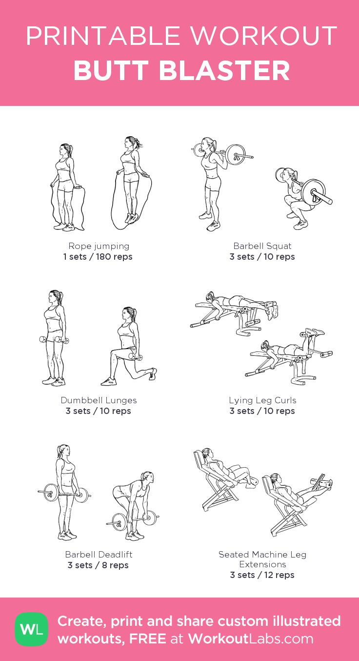 BUTT BLASTER:my custom printable workout by @WorkoutLabs #workoutlabs #customworkout
