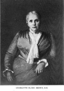 Charlotte Blake Brown (1846-1904), American medical doctor based in San Francisco