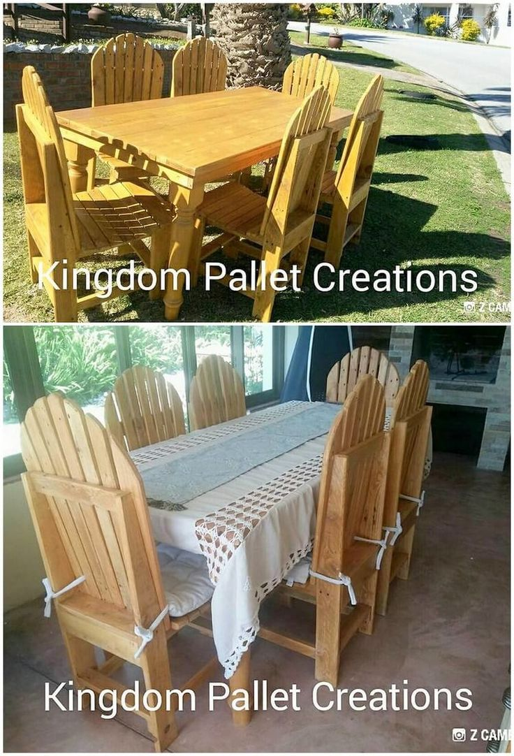 Genius Ways Reuse to Wasted Wood Pallets. Pallet dining furniture ...