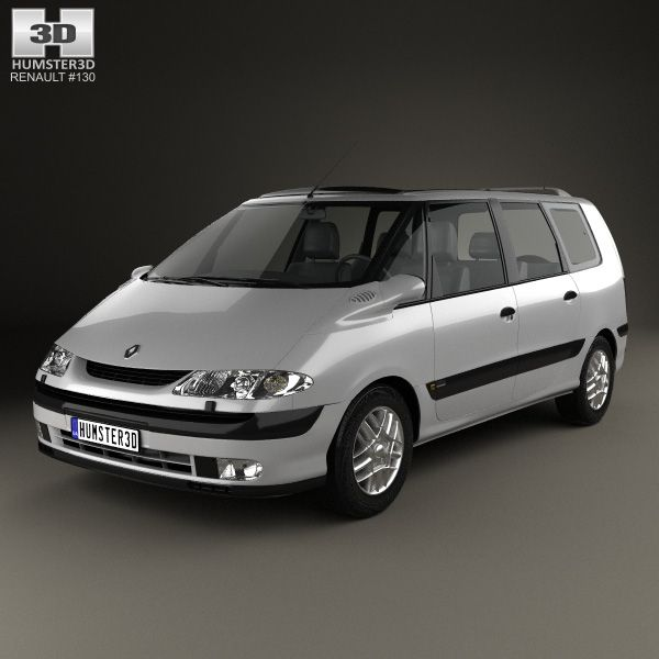 Renault Espace 1996 3d model from humster3d.com. Price: $75