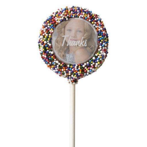 Girls Rainbow Candy Party Personalized Chocolate Covered Oreo Pop
