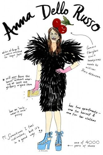 An illustrated guide to fashion's biggest icons – click through for Daphne Guiness, Marc Jacobs and more! Illustration by Joana Avillez