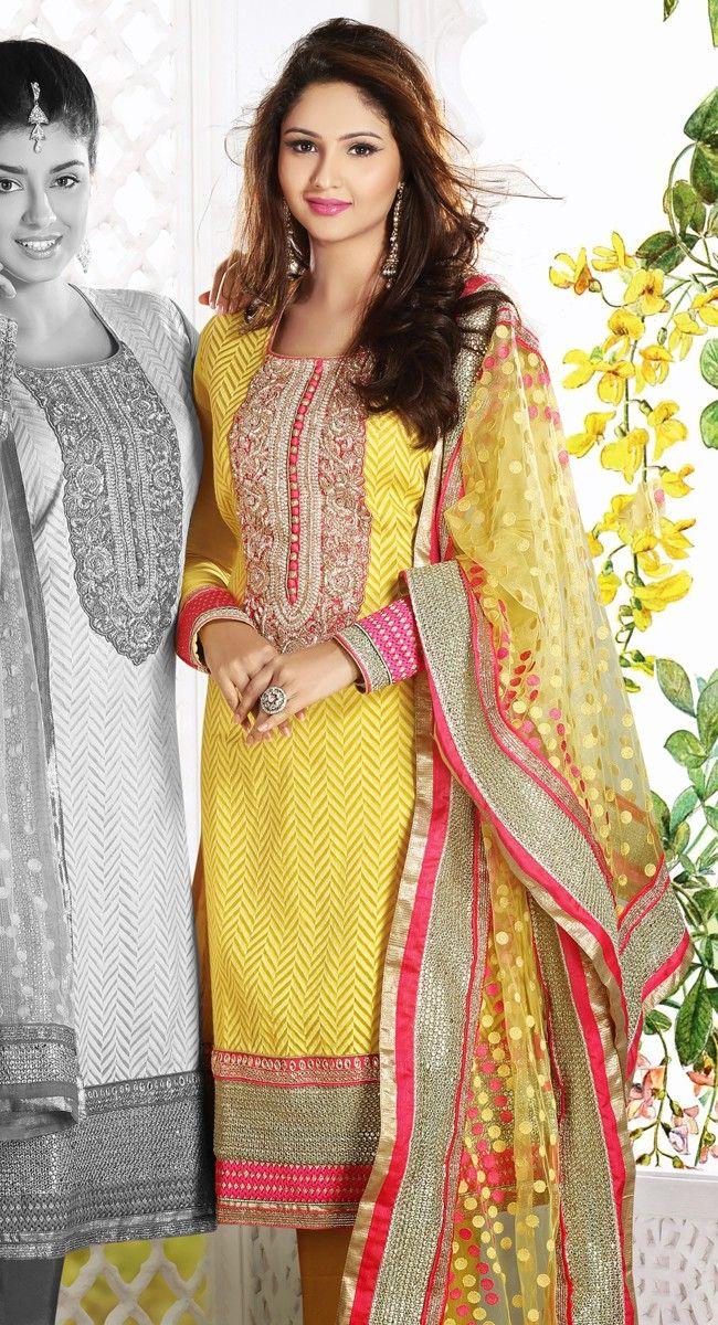 Ravishing Yellow Salwar Kameez $191.00