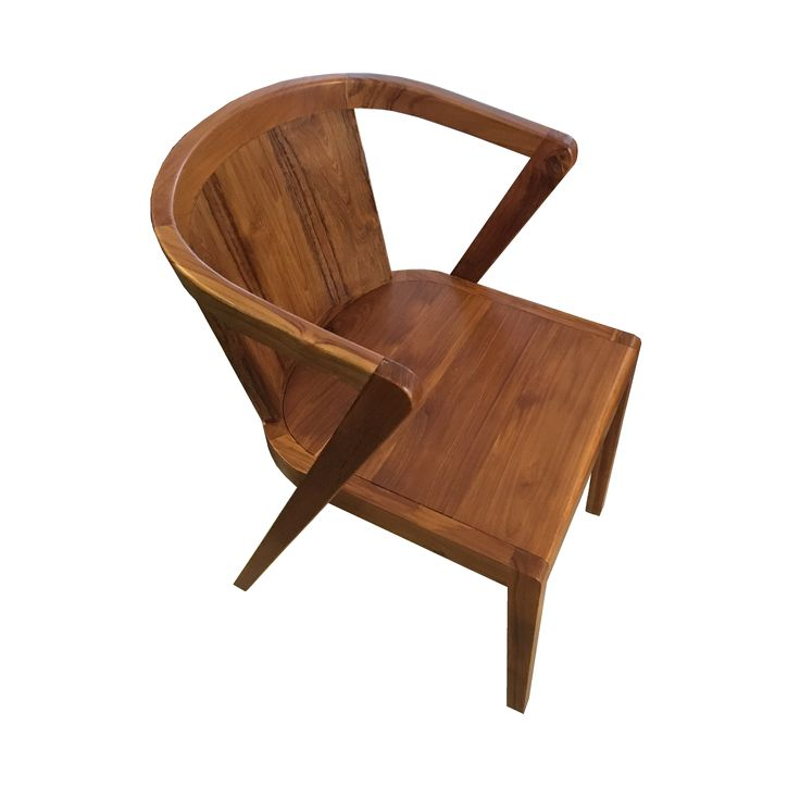 Dining Chair - Rustic Teak. A beautiful rustic dining chair to match your table while enjoy the dining time.