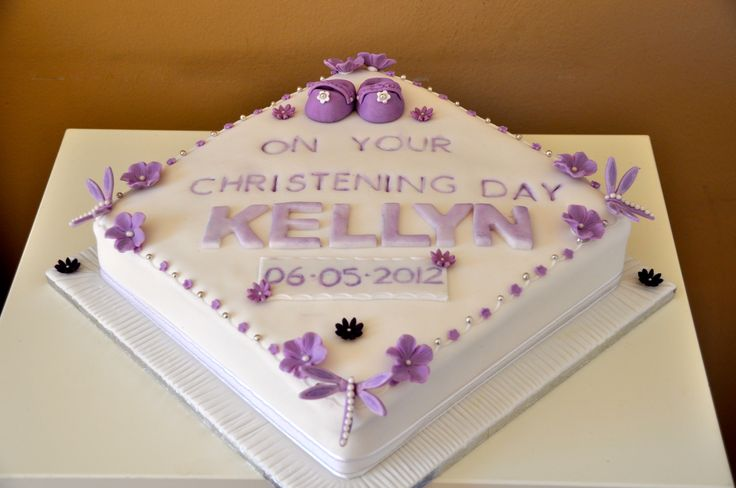 Purple Christening Cake