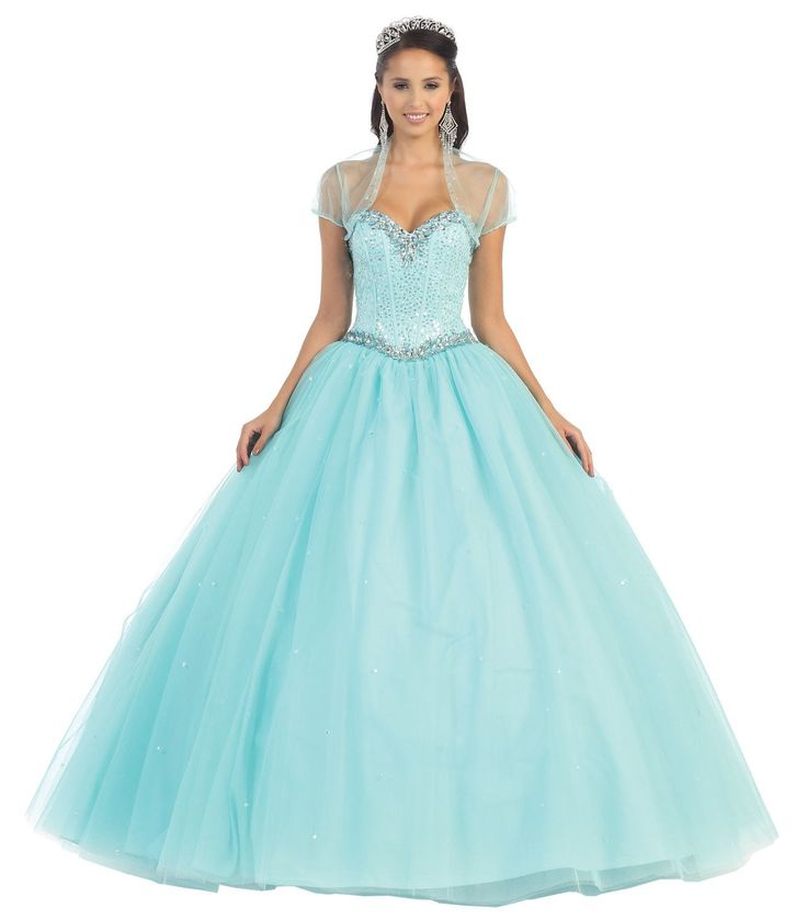 Long Strapless Corset Back Quinceanera with Bolero Ball Gown - The Dress Outlet - 4