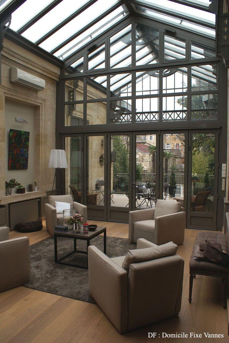 Inspiration entre intérieur et extérieur la véranda cocon de décoration le blog baie vitrée pinterest
