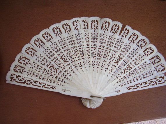 Antique Fan Chinese Canton 19c Qing Dynasty by Vintage0Sparklers
