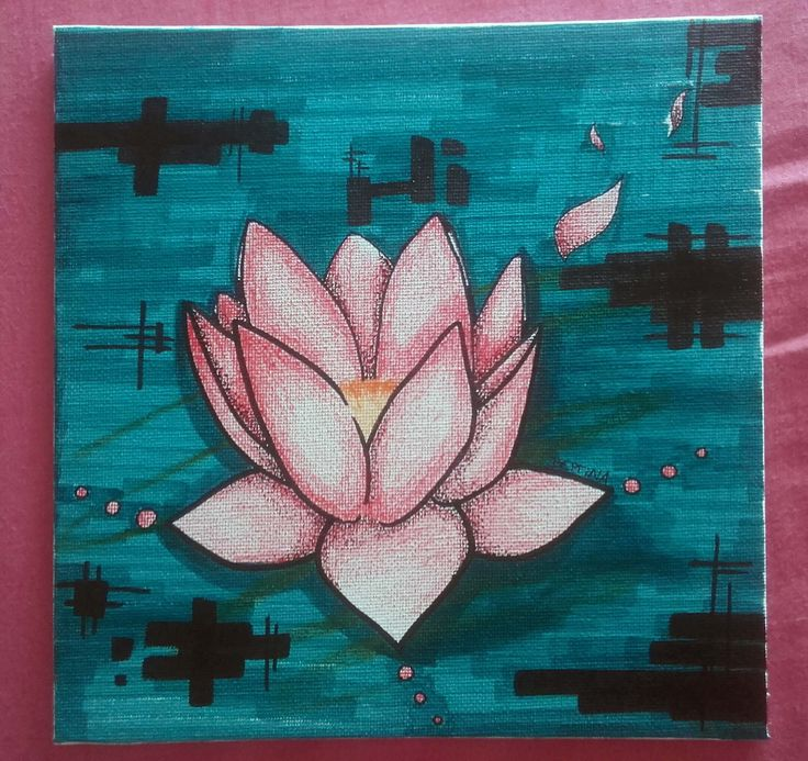Lotus flower - Pen, Pencil and Markers Drawing