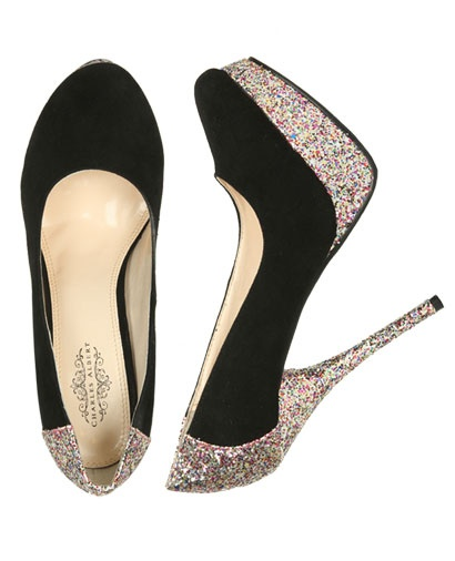 Glitter Platform Heel: Shoes, Platform Heels, Glitter Platform, Pump, Teen Clothing, Black Glitter, Glitter Heels, Wet Seals, New Years