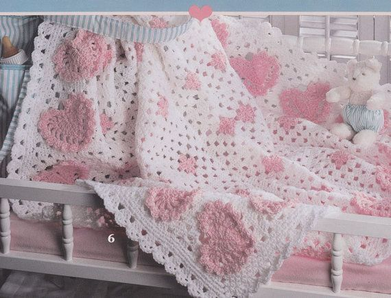 Sweetheart Baby Afghan Crochet Patterns 8 by PaperButtercup