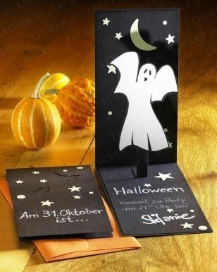 DIY. Halloween EinladungHalloween Deko IdeenEinladungskarten GeisterHerbstPunkteAusfallenBastelnJahreszeiten