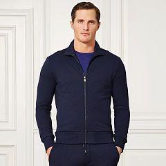 Pima-Blend-Fleece Jacket - Purple Label Sweatshirts - RalphLauren.com