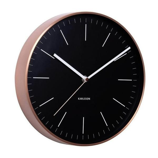 Karlsson Minimal Wall Clock - Copper & Black (27.5cm) | Koop.co.nz