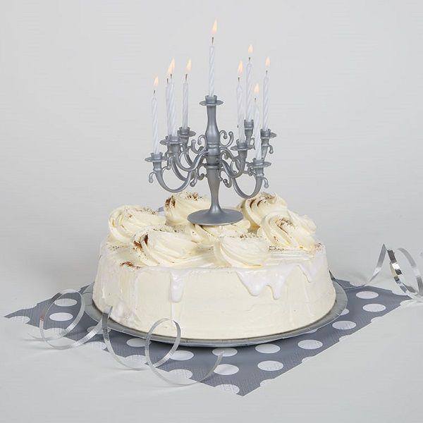 Der Elegante Silber Kerzen Kronleuchter Eignet Sich Perfekt Um