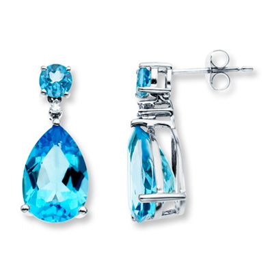 Blue topaz earrings are the perfect addition to your stylish Independence Day celebration!