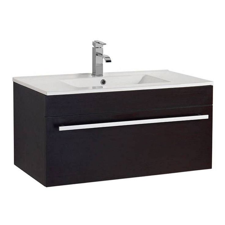 Odessa wenge wall hung 900 drawer unit inset basin for Bathroom cabinets victoria plumb