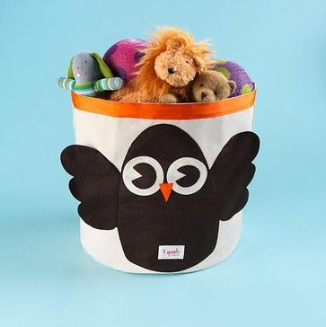 Children's Owl Collapsable Storage Bin - eclectic - toy storage - The Land of Nod