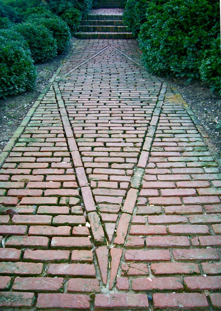 brick path at dumbarton oaks