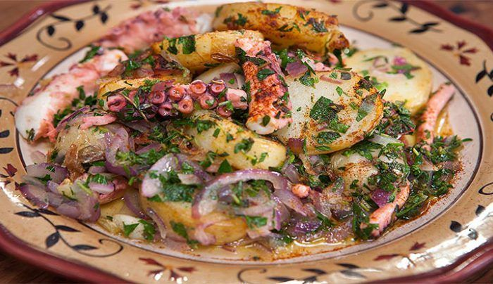 Octopus and Potatoes - Good Chef Bad Chef