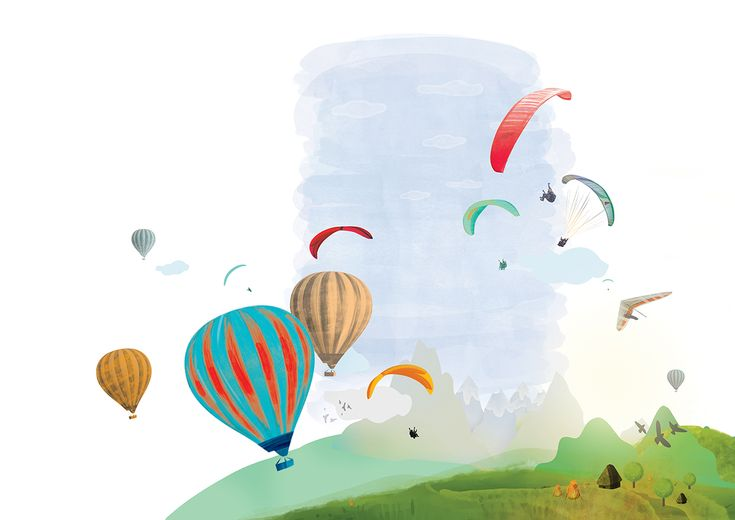 Illustrations for a flight adventure website on Behance  #flight #outdoor #adventure #paragliding
