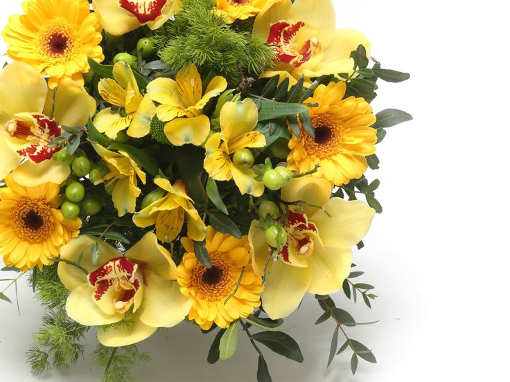 Lenyűgöző sárga vegyes virágcsokor    #flowers#bouquet#viragszoro#viragszoroviragkuldes#yellow#orchid#gerbera#alstromelia