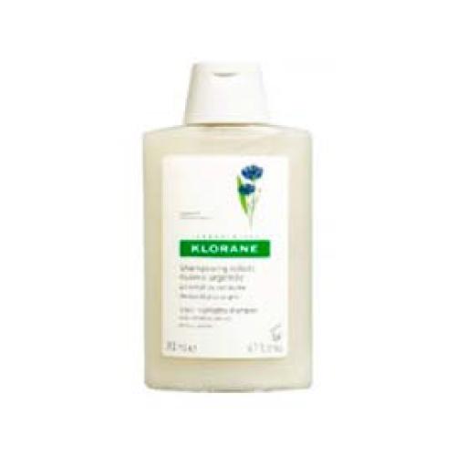 Klorane Shampoo Centaure  - 200Ml(Shp Centaurea) Previene el amarilleo de los cabellos blancos o grises. Shampoo reflejos plateados con extracto de centaurea. Reaviva su esplendor y les da ligeros reflejos plateados, suaves y luminosos.