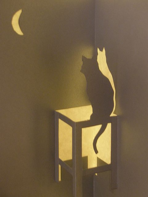 Cat, Kirigami by janularry, via Flickr