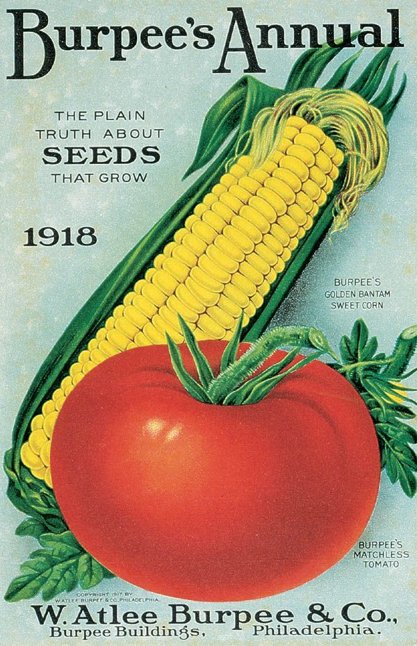 """W. Atlee Burpee & Co. Philadelphia 1918. """"The plain truth about SEEDS that grow."""" http://www.burpee.com/about/covergallerylist.jsp?start=25"""