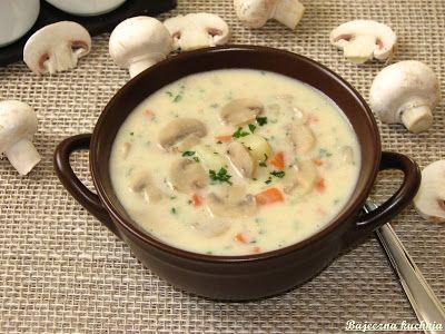 Bajeczna Kuchnia: Kremowa zupa serowo-pieczarkowa