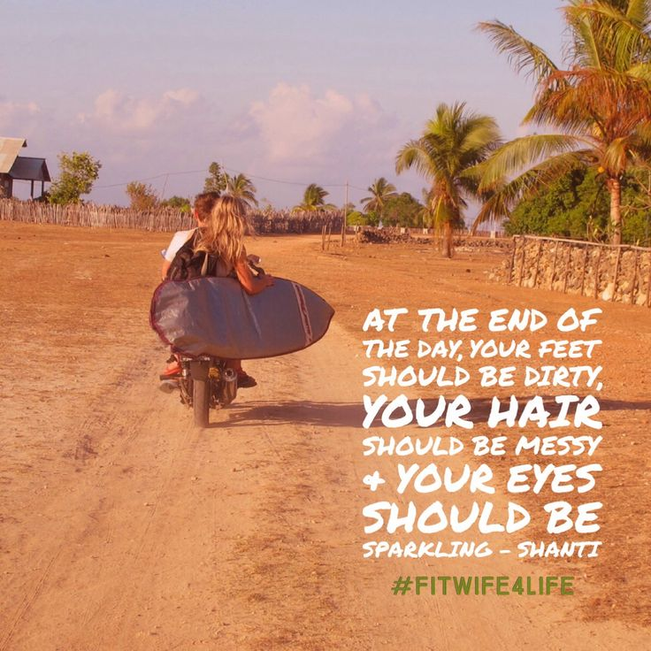 """""""At the end of the day, your feet should be dirty, your hair should be messy, and your eyes should be sparkling. """" --Shanti  #Bridalicious #bridaliciousbootcamp #fitwife4life #havefun #play @fitwife4life"""