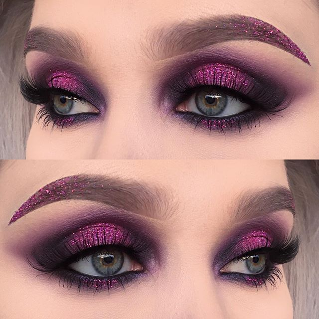 "from user helenesjostedt on instagram. I used @urbandecaycosmetics electric palette (shadows: savage, jilted and urban) | @sugarpill cold chemistry palette (shadows: elemental chaos and soot&stars) | @jnbeauty lashes ""oh wow"" 