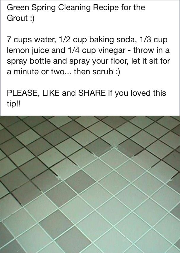Cleaning Grout In-between Tiles