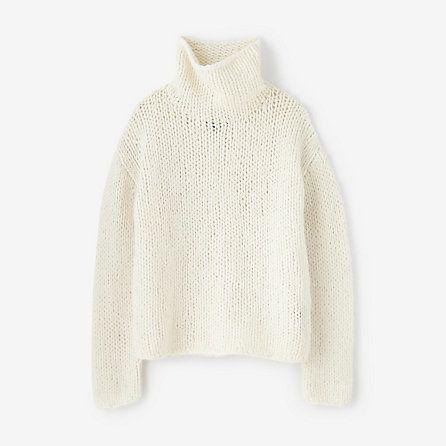 NILI LOTAN handknit oversized tneck sweater