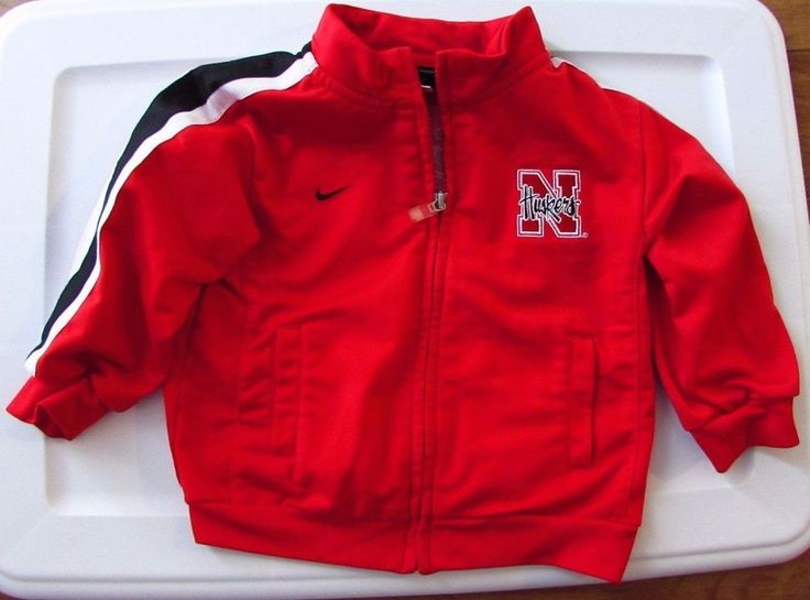 Nike Team Nebraska Cornhusker Husker Red Zip Up Jacket Size 24 Month  #Nike #NebraskaCornhuskers