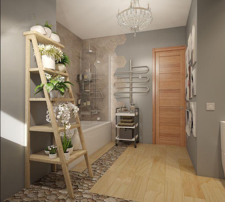 Цветы в ванной. Дизайн ванной комнаты. Москва