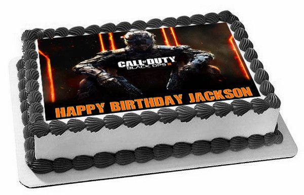 Call of Duty Ops 3 Edible Cake Topper & Cupcake Toppers – Edible Prints On Cake (EPoC) - Want to surprise your special someone on his/her birthday? How about choosing a personalized cake topper to reflect your emotions!! Well, trust #edibleprintsoncake to get you the best.
