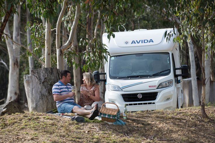 When is the last time you had a nice lunch outside in the fresh air? Do so with your Avida Leura motorhome like this lovely couple is!