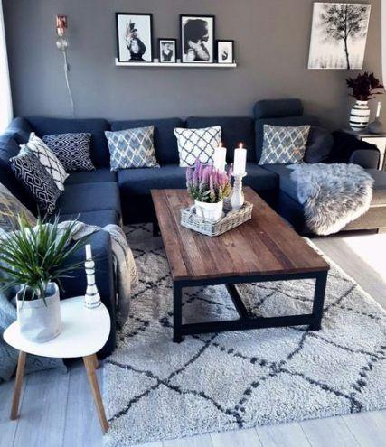 67 Ideas Living Room Black Grey Blue Decor Gray Sofas