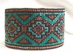 Desert Sage Bead Art: ....Turquoise-Copper