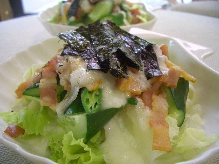 長いもとろとろ☆ベーコン・レタス・サラダ by ゆうたま [クックパッド] 簡単おいしいみんなのレシピが237万品