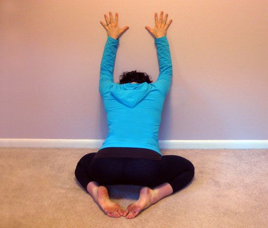 here i am sitting in my cube with an aching back. really wish I could do this right now.     stiff neck? sore back? hold stress in your shoulders? these stretches relieve pain, soreness & stiffness.