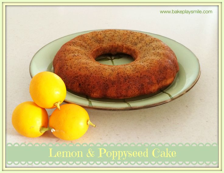 Lemon and Poppyseed Syrup Cake... so delicious and moist! http://www ...