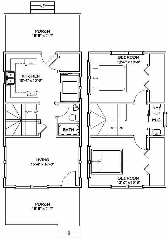 16 X 28 House Plans Beautiful 16x28 House 16x28h5c 814 Sq Ft Excellent Floor In 2020 Carriage House Plans Tiny House Plans Small Cottages Home Design Floor Plans