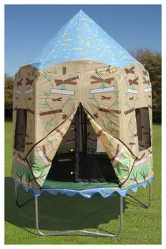 AWESOME! Treehouse Trampoline Tent modern children lighting