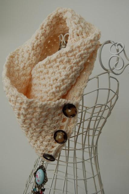 Lattice Crochet Neck Warmer