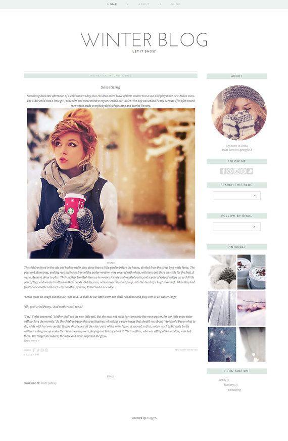 Blogger Template Premade Photography Blog Design