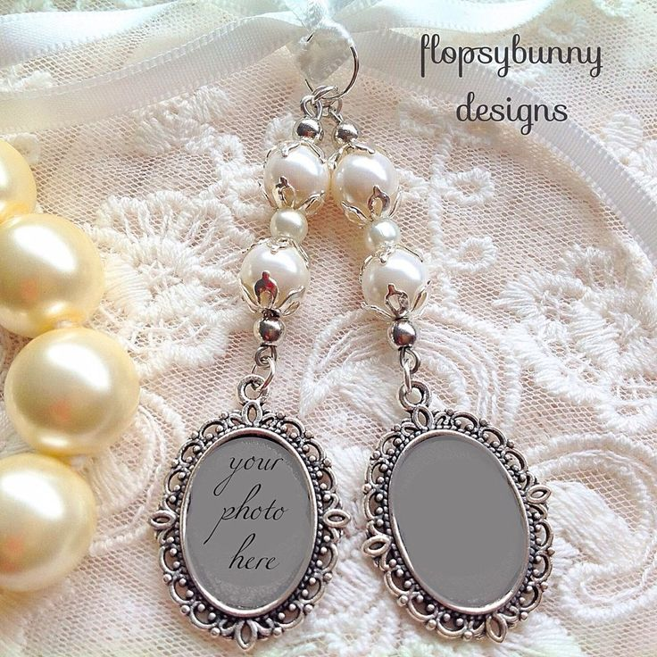** Beautiful bridal bouquet double photo frame memory charm,ivory Pearls,gift