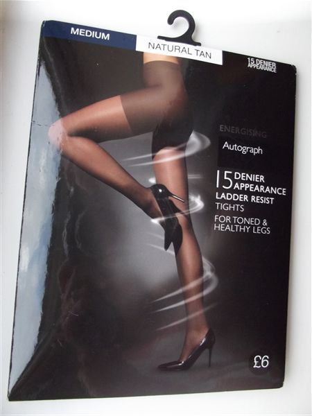 M&S AUTOGRAPH ENERGISING Ladder Resist TIGHTS M 15 Den BNWT RRP£6 Natural Tan