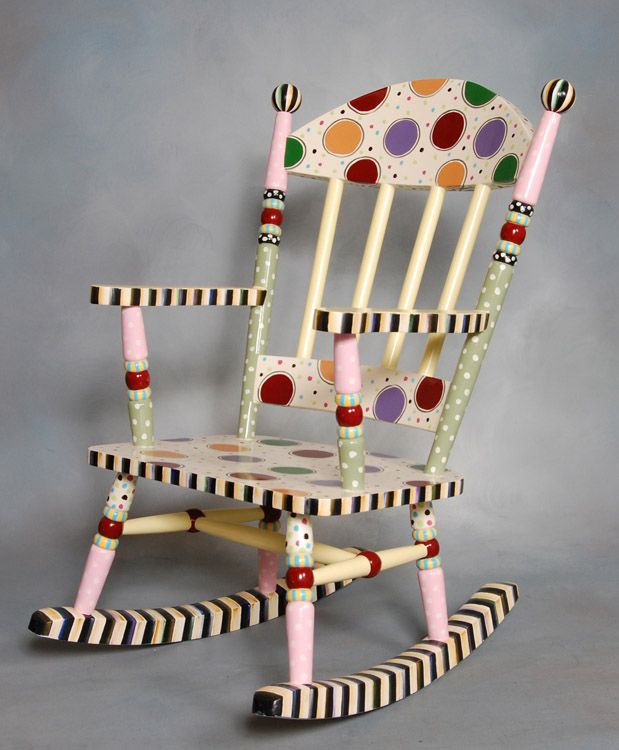 MacKenzie Childs Dots auctioned at the E. John Gavras Center Imagination Library Celebration Silent Chair Auction